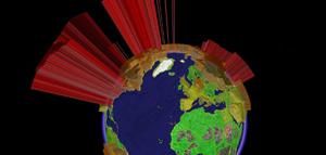 グーグルアースGoogle Earth世界の石油消費量