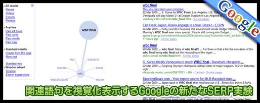 関連語句を視覚化表示するGoogleの新たなSERP実験