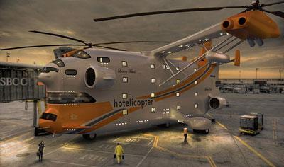 空飛ぶ5つ星ホテル「hotelicopter」