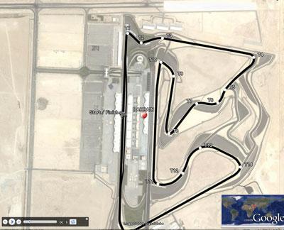 F1第4戦バーレーンGPのコース