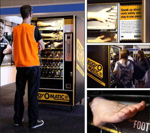↑体のスペアを買える自動販売機。もちろんプロモーションですがw