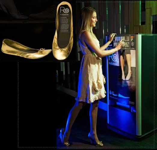 アフターパーティ 専用の靴販売機。なんてニッチな。