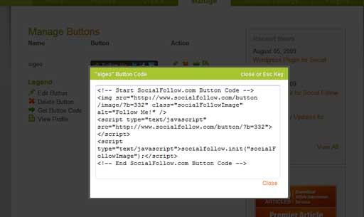 サービスを追加して、最後にコードを取得し、表示させたい所へ貼り付ければOKです。